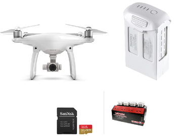 Lender: DJI Phantom 4, battery, 64gb sd card, power supply