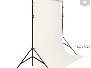 Lender: White Paper Background Kit w/ Backdrop Stand