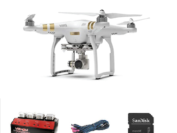 Lender: DJI Phantom 3, 3xakku, 1xsd 64 gb ,1x power supply