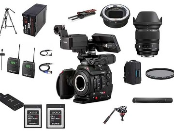 Lender: Sony FS7M2 - Documentary Camera, Zoom Lens, Sound & Tripod P