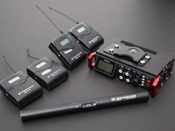 Lender: Sennheiser G3 112 (2 sæt) inkl Tascam 701 recorder + MKE 600