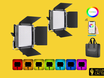 Lender: 2x Led Panel RGB with Stands