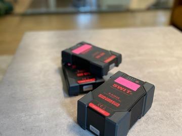 Lender: 3 stk. V-Mount batterier / V-lock / Vlock / V Lock / Vmount