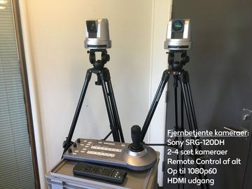 Lender: To PTZ kameraer med fjernkontrol