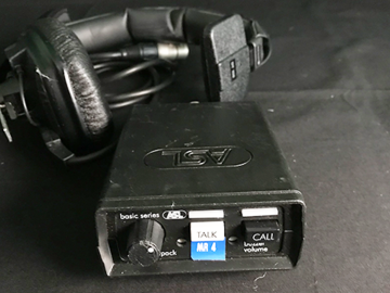 Lender: ASL Intercom beltpack met headset