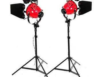 Lender: 2x Redhead lamper 650W med barns