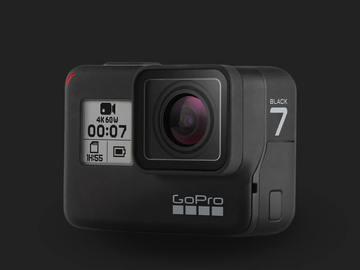 Lender: GoPro HERO 7 Black med batterier og SD kort
