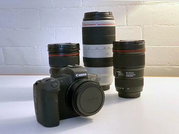 Lender: Canon R5 with three EF lenses