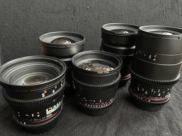 Lender: Samyang VDSL KIT Canon (24,35,50,85,100 )