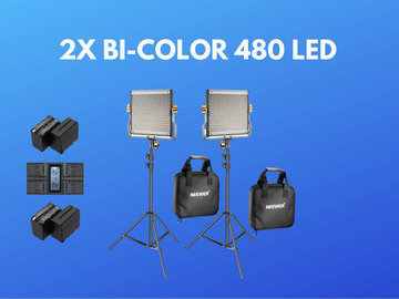Lender: LED Lights - 2 Pack Dimmable Bicolour