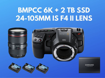 Lender: Blackmagic Pocket 6k BMPCC 6k + 2 TB SSD + 24-105mm f4 II