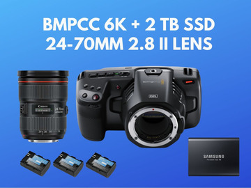 Lender: Blackmagic Pocket 6k BMPCC 6k + 2 TB SSD + 24-70mm 2.8 II