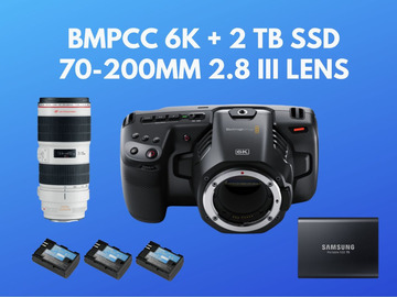 Lender: Blackmagic Pocket 6k BMPCC 6k + 2 TB SSD + 70-200mm 2.8 III