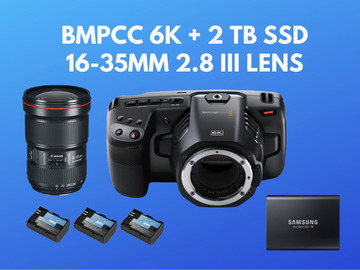 Lender: Blackmagic Pocket 6k BMPCC 6k + 2 TB SSD + 16-35mm 2.8 III