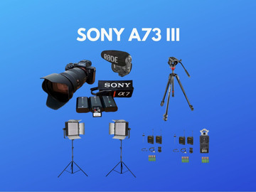 Lender: Sony A73 III - Custom Pack (24-70mm G lens, Lights, Mic)