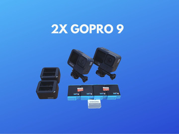 Lender: 2x GoPro 9 + 4x batteries + 2x 128GB SD Cards
