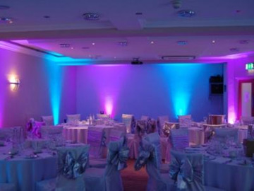 Lender: 12x Uplights RGB - Wedding lights - LEDJ Slimline 7Q5 Black
