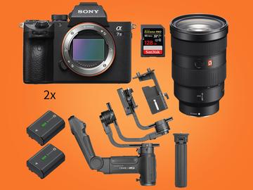 Lender: Sony Alpha a7 III, gimbal Crane 3 stabilizer, 24-70mm Lens - Run-and-Gun v2