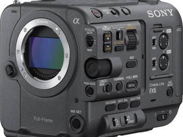 Lender: Sony FX6 (PXW FX6) body inkl. tilbehør