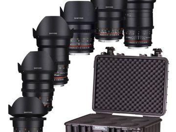 Lender: Samyang VDSLR MK2 6 lens Cine set 14/24/35/50/85/135mm