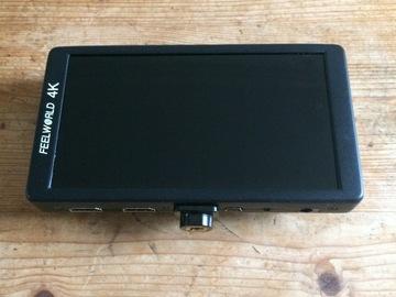 Lender: Camera Monitor, Feelworld F570 + Batteries + Sunhood