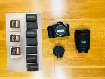 Lender: Sony A7s mk ii with Canon 24-70mm Zoom Lens