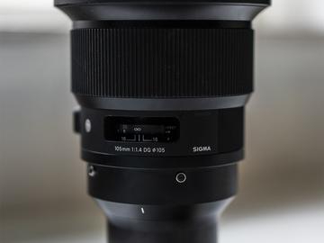 Lender: Sigma 105mm f1.4 med Sony E-mount
