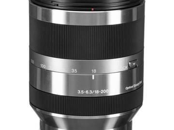 Lender: Sony E 18-200mm f/3.5-6.3 OSS Lens