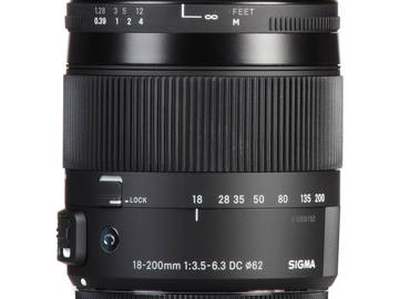Lender: Sigma 18-200mm f/3.5-6.3 DC Macro OS HSM Contemporary Lens for Canon EF