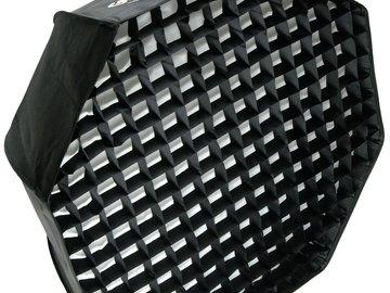 Lender: Godox Paraply Octabox med raster 120cm Bowens