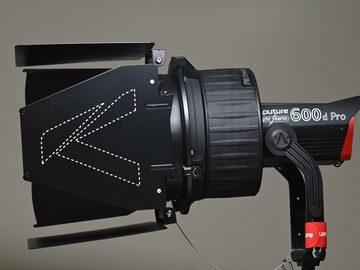 Lender: Aputure LS 600d Pro + F10 Fresnel og Barndoors