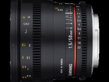 Lender: Samyang 50mm T1.5 VDSLR