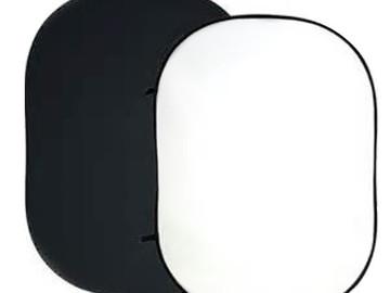 Lender: Foldbar baggrund, hvid/sort, 180 x 200