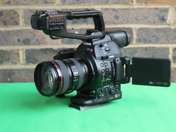 Canon EOS C100 Mark II + Canon EF 24-105 IS F4 lens + 2x 128 GB SD + Manfrotto tripod