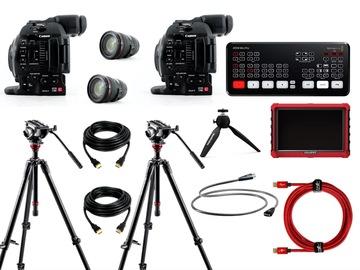 Live streaming 2 cameras bundle (ATEM Mini Pro + Canon C100 mark II + EF 24-105 lens)