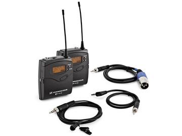 1x Sennheiser G3/G4 wireless lapel microphone