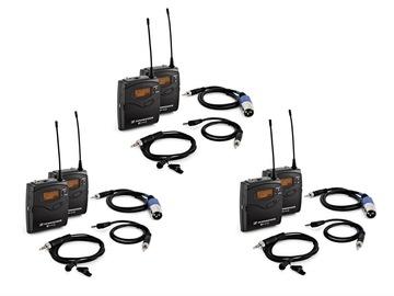 Lender: 3x Sennheiser G3/G4 wireless microphone kit