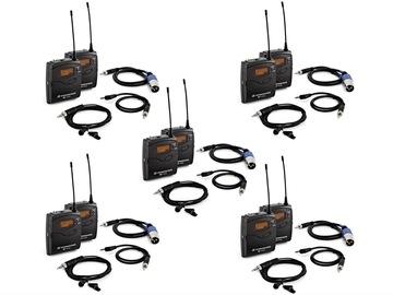 Lender: 5x Sennheiser G3/G4 wireless microphone bundle