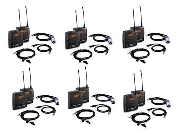 Lender: 6x Sennheiser G3/G4 wireless microphone bundle