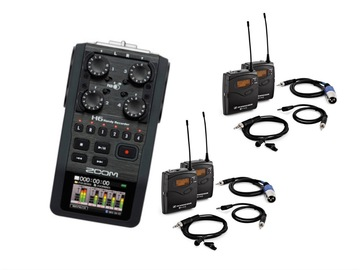 Lender: Zoom H6 + 2x Sennheiser G3 wireless lapel microphone bundle