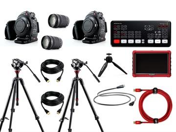 Lender: Live streaming 2 cams bundle (ATEM Mini Pro + cables + monitor + C100 + 18-135 lens)