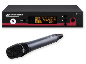 Lender: 1x Wireless handheld desktop microphone kit (606-648MHz) Sennheiser
