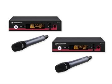 Lender: 2x Wireless handheld desktop microphone kit (606-648MHz) Sennheiser