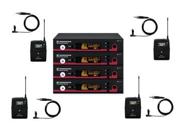 Lender: 4x Sennheiser Clip-on wireless microphone kit (606-648MHz)