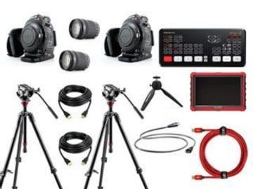 Lender: Live streaming 2 cams bundle (ATEM Mini Pro + cables + monitor + C100 + lens)