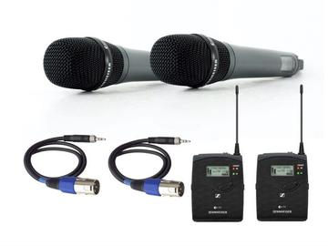 Lender: 2x Wireless handheld microphone kit (Sennheiser)