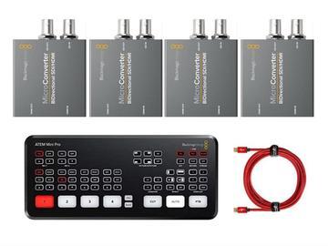 Lender: ATEM MINI PRO with SDI/HDMI converters x4 (BiDirectional)