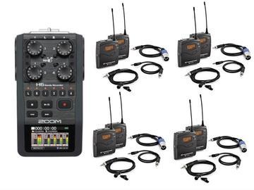 Lender: Zoom H6 + 4x Sennheiser G3 Wireless Lapel Microphone bundle