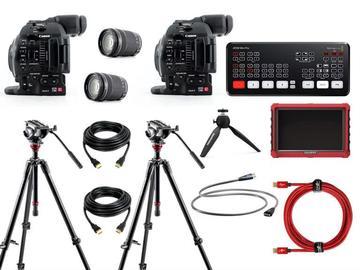 Lender: Live streaming 2 cams bundle (ATEM Mini Pro + Canon C100)