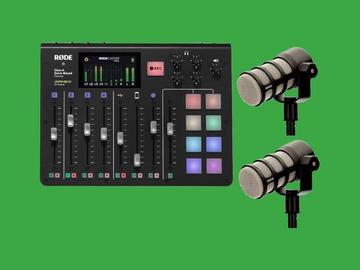 Lender: RODECASTER PRO bundle with RODE PODMICs and STANDs